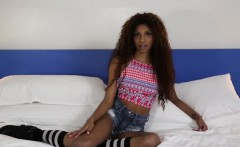 Ebony teen face cumsoaked