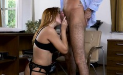 Glamour babe Eva Berger with glasses screwed by hard shaft