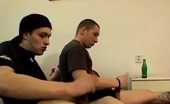 Mens self sucking toes gay The studs play with their feet a