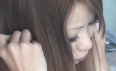 Tiny asian teen rubbing
