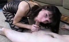 Spouse nearly smashes his dick before the creampie