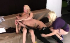 Girls nail boyfriends asshole with huge strap dildos and squ