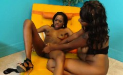 Two Hot Ebony Lesbians Playing With Each Other