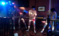 Men strip completely nude at club
