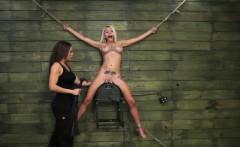 Blonde Kristin Is Self-disciplined