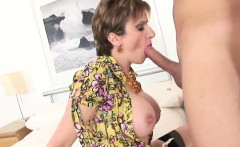Adulterous british milf gill ellis flashes her oversized tit
