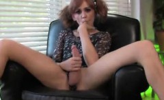 Naughty Teen Tgirl Tastes Her Own Sperm!