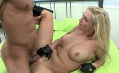 Petite blonde Dylan Riley gets her pussy pounded and takes
