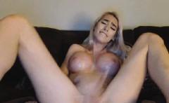 Big Juggs Babe Masturbating on cam