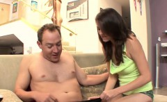 this horny little slut has heard how good her stepfather