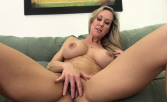 Blonde Busty MILF Drilling he Pussy Solo