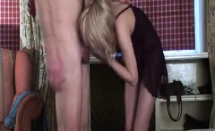 blonde hot girl being fucked doggystyle and stroking