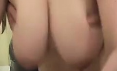 Voluptuous Japanese lady has a guy caressing her huge natur