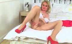 British milfs Alisha Rydes and Diana in sexy pantyhose
