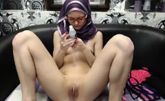 super skinny teenager in hijab