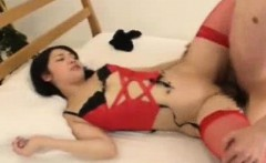 Red Stockings Sexy Japanese Teen