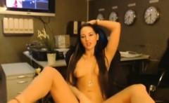Sexy secretary in her office