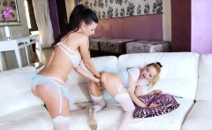 Lesbian models spread their deep anuses and screw enormous f
