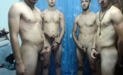Bare romanians jerking on camera
