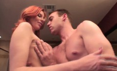 exciting redhead masseuse marsha lord works her magic on a big shaft