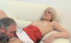 adorable young sweetie enjoys rear fuck with old chap