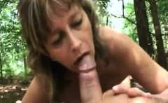 gilf juditta giving head and riding on cock in woods