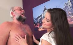 Teen babe banged by grandpa