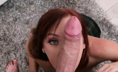 Redhead Beauty Dani Jensen Blows Huge Cock