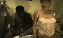 MILF fat woman wants black band
