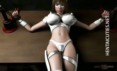 Hottie 3D hentai slave gets tied up