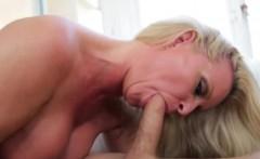 big boobed blonde milf deepthroating youg cock