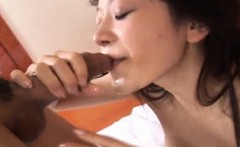 naughty asian chick, karin gives a blowjob before getting