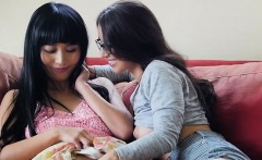 Lesbian Babe Pleasures Pussy Of Her Asian Lover