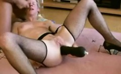 german spouse gets large dildo that is dark 1