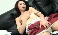 Sensuous Japanese wife gets her hairy snatch eaten out and