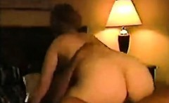 Busty blonde milf fucks and sucks with man that is black