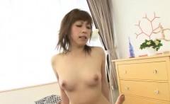 Saki Asaoka busty Japanese receives two cocks to play