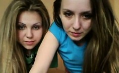 Two Teens On Webcam
