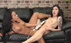 morgan and marley use the hitachi and dildos on each other