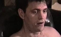 Skinny twinks enjoys masturbating his hairy long sword solo