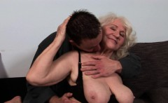 Busty Grandma Rimmed By Younger Guy