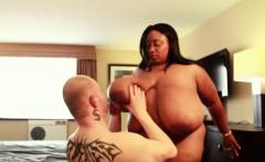 Huge Tit Ebony MILF BBW Smother White Cuckold Fan