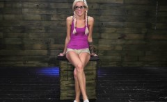 Human ashtray slave xxx Halle Von is in town on vacation wit