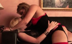 mature blonde gets with a blonde babe