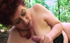Chubby Granny Tamara Pleasing Big Dong Outdoors