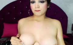 Horny Tranny Toys her Ass and Cock