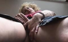 Mature Blonde Finger Fucks Herself