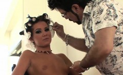 Foxy babes have fun behind the scenes