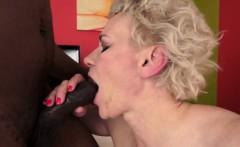 Granny sucks and fucks a big black cock