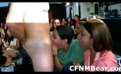 CFNM amateur fans suck male stripper at CFNM party